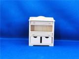 Commode of kastje blank hout