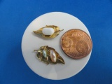 2 st. zeepschaaltjes met zeepjes