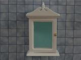Badkamer kastje wit gelakt hout